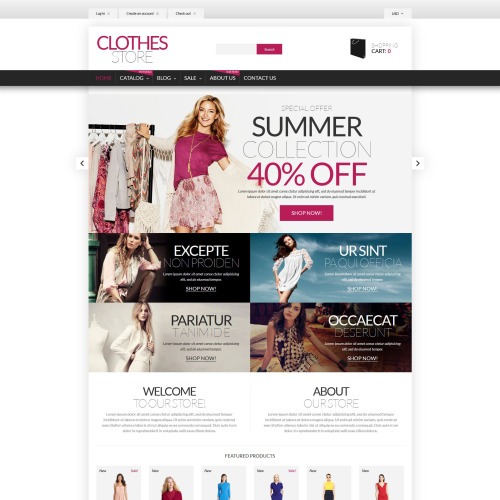 Clothes Store - Shopify Template based on Bootstrap