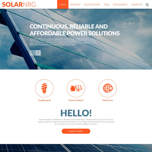 SOLARNRG - Responsive Website Template
