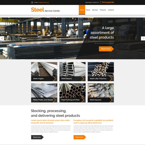 Steelworks - Website Template based on Bootstrap