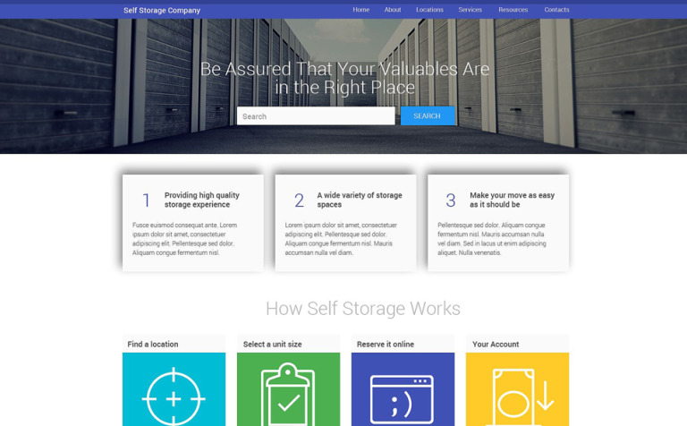 facility services website template