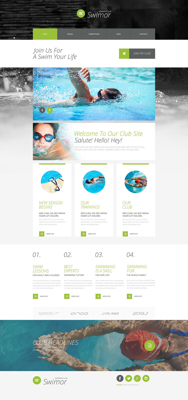 Swimming Club Website Template New Screenshots BIG
