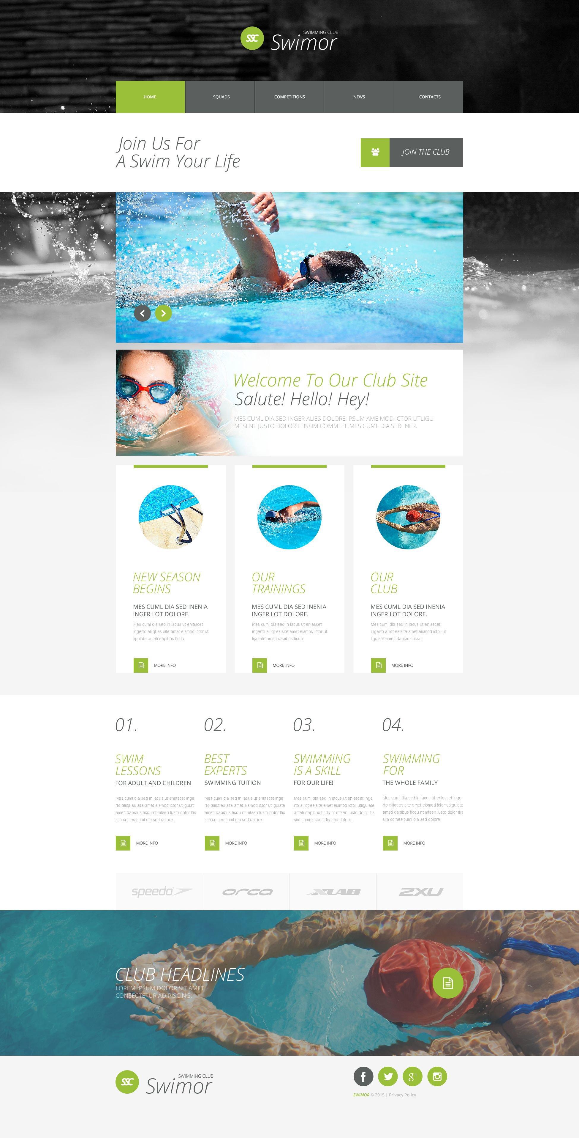swim team flyer templates