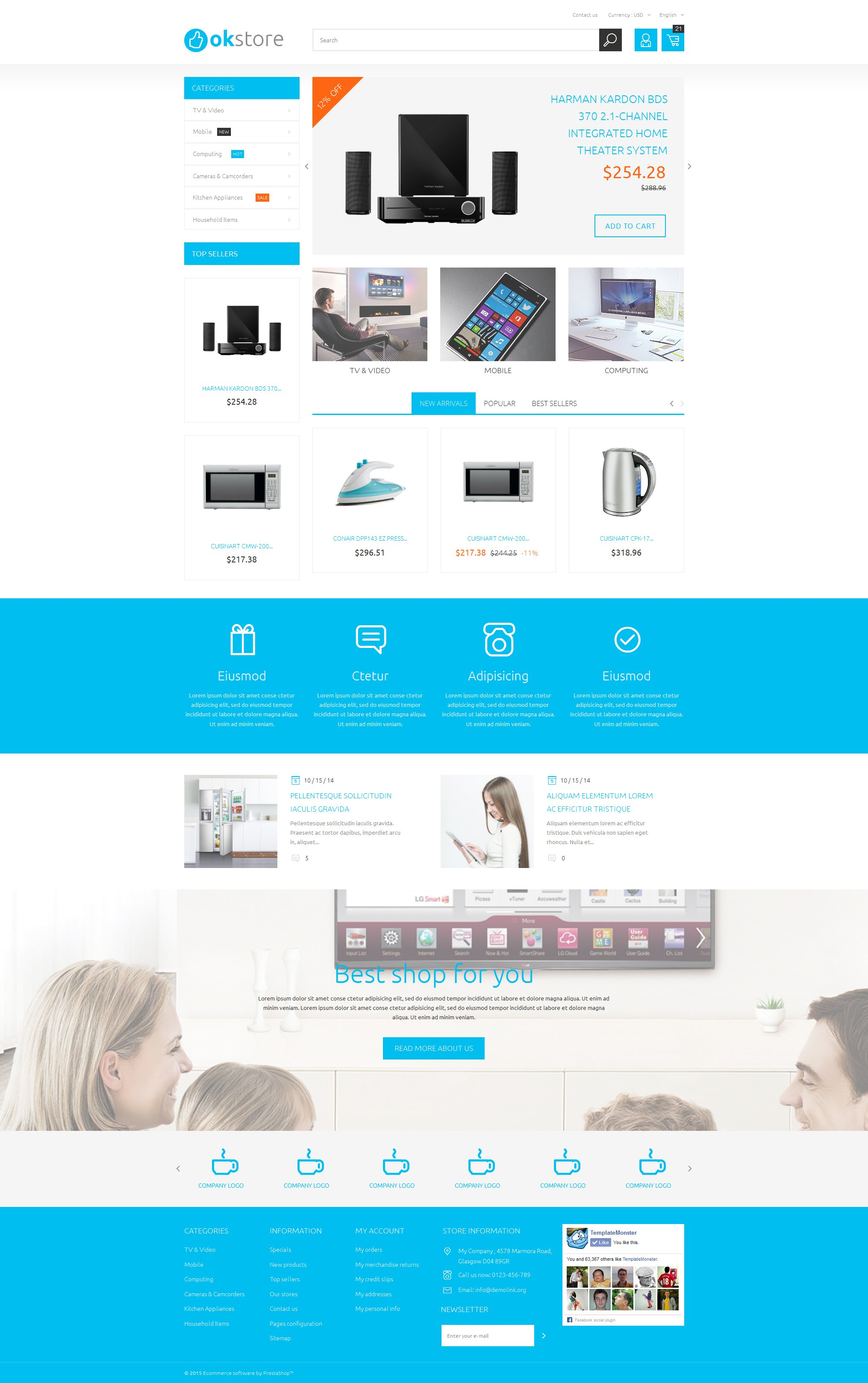 Tech Gear PrestaShop Theme
