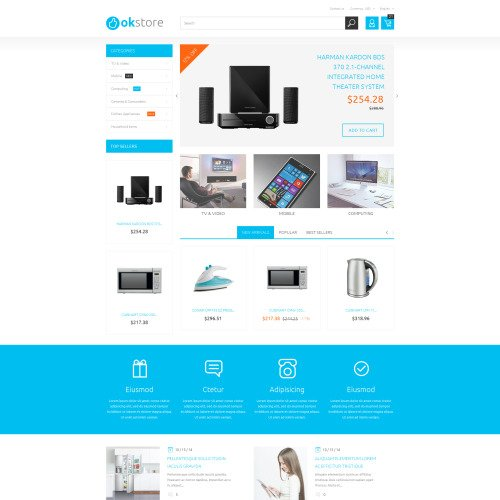 Ok Store - PrestaShop Template based on Bootstrap