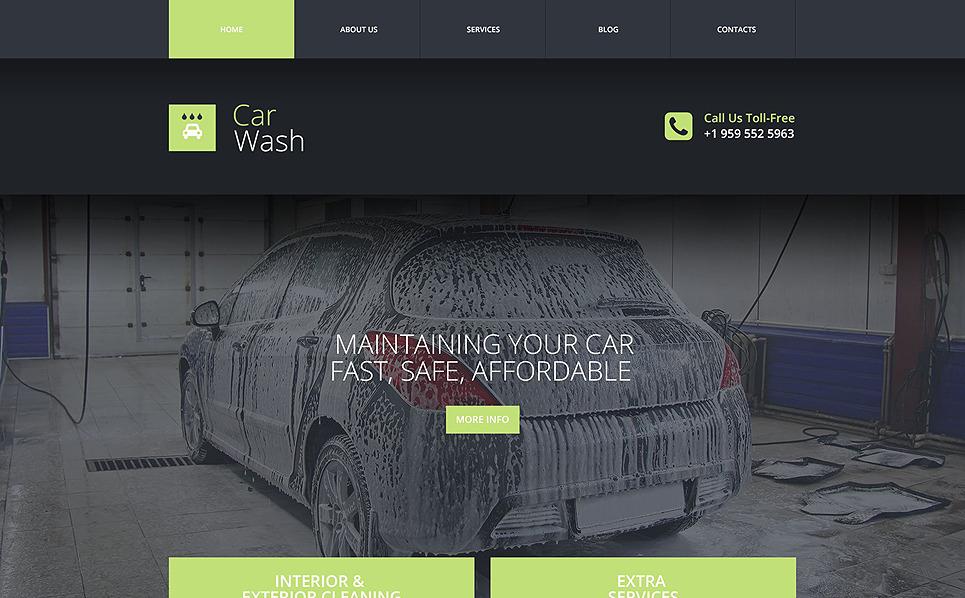 Tema Siti Web Responsive #53652 per Un Sito di Autolavaggio New Screenshots BIG
