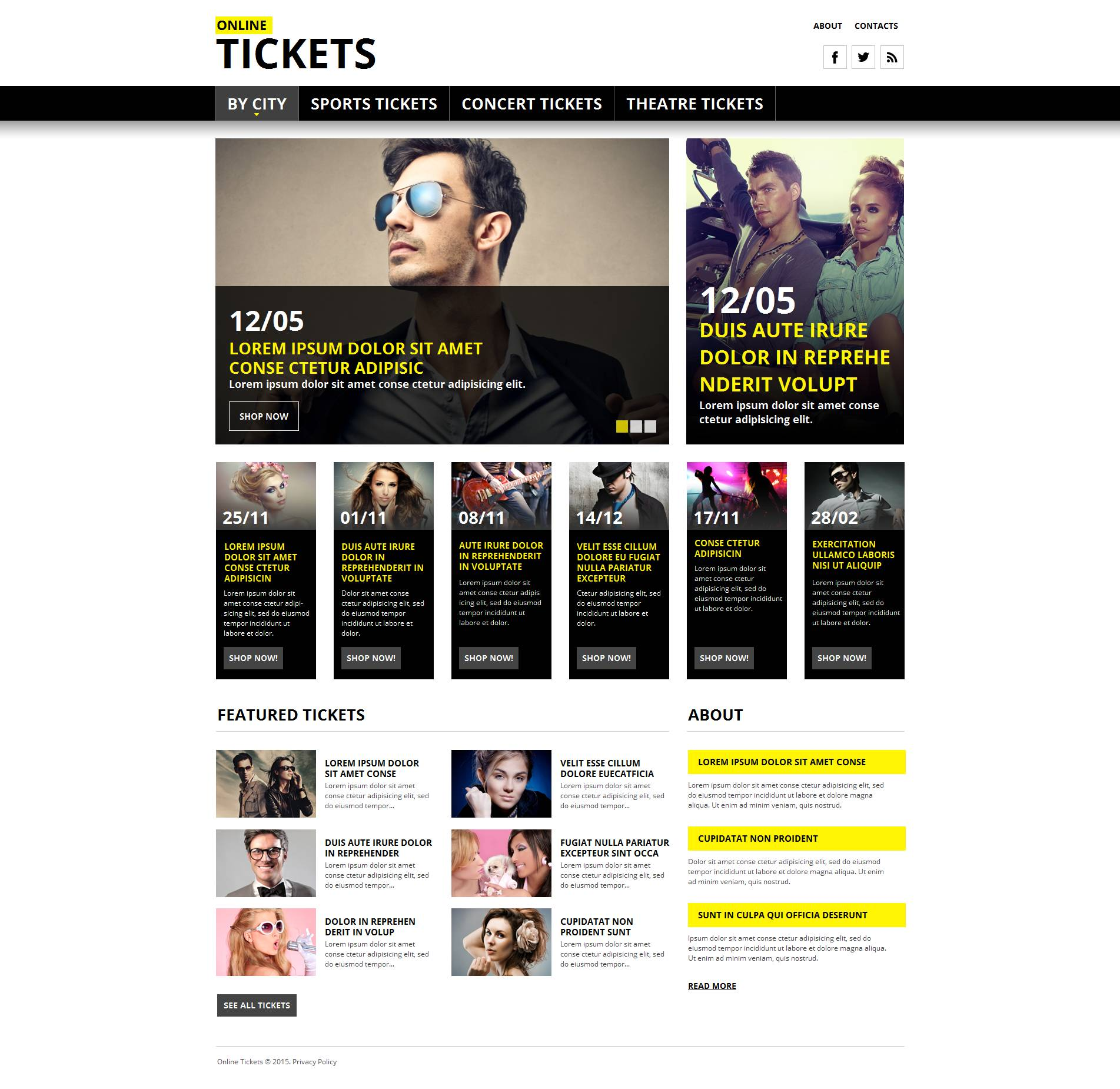 Tickets Website Moto CMS HTML Template
