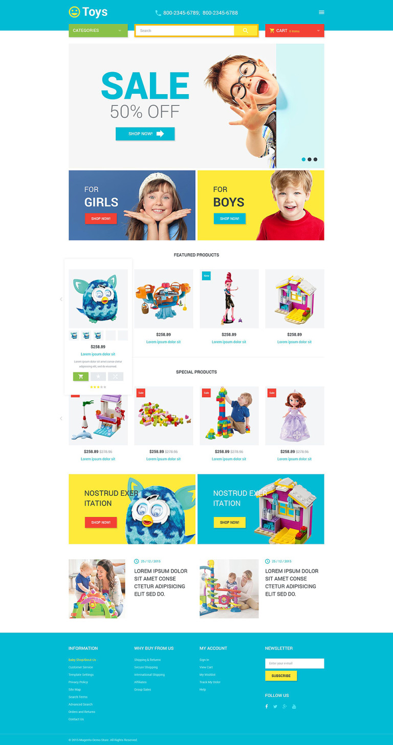 Toys Store Magento Theme New Screenshots BIG