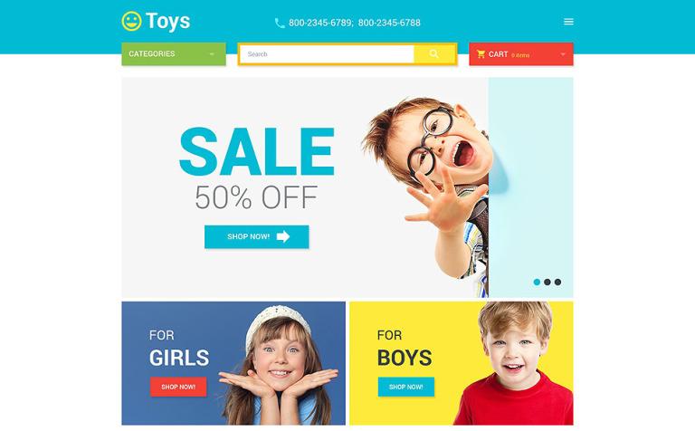 Toys Store Magento Theme