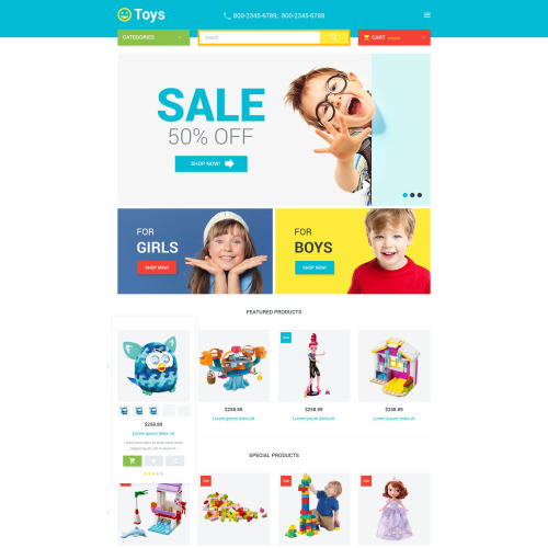 Toys Store - Magento Template based on Bootstrap