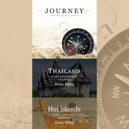 Journey Chicago Travel Agency - Responsive Newsletter Template