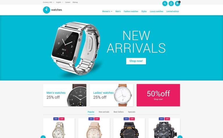 Watches Store PrestaShop Theme
