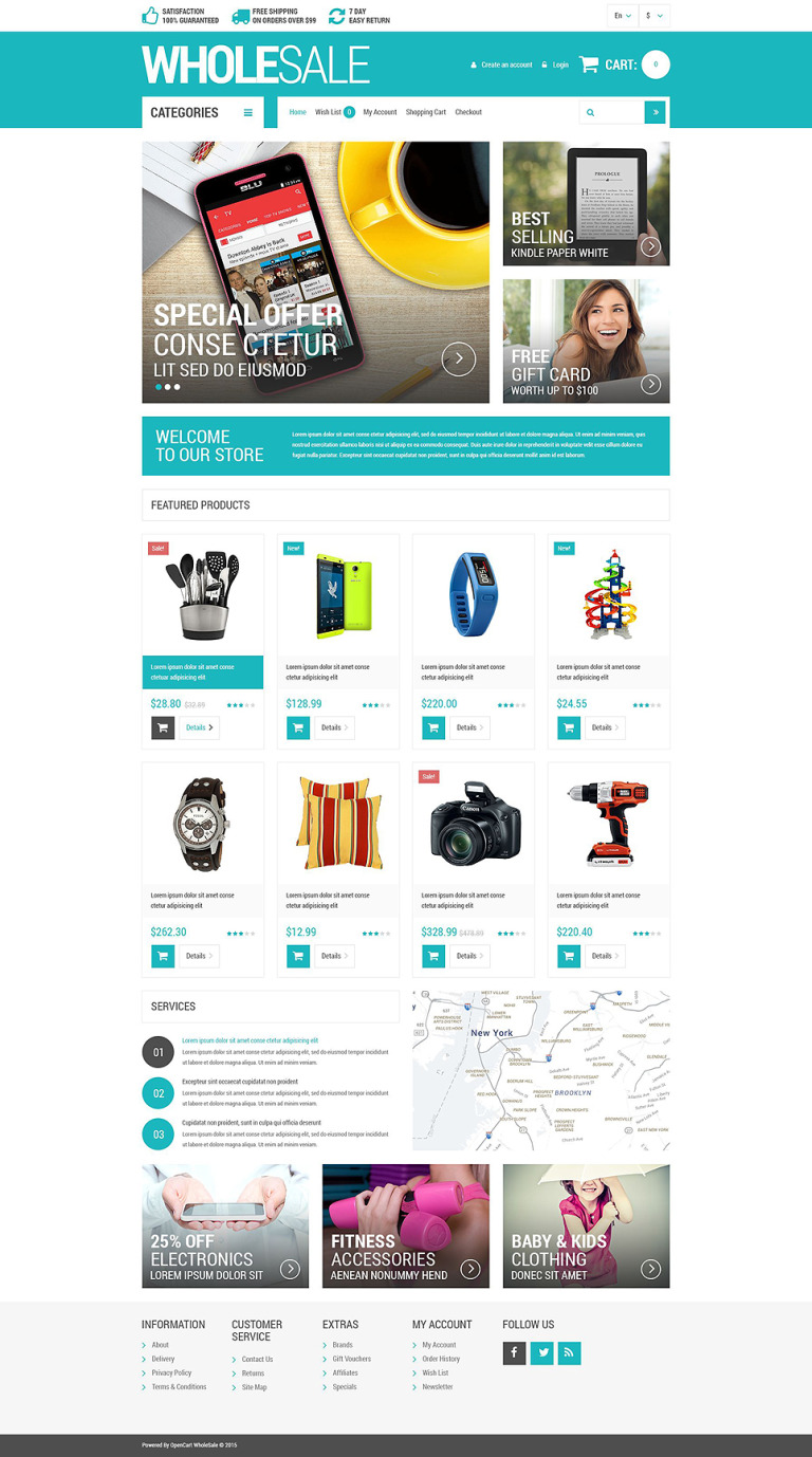 Wholesale Store Responsive OpenCart Template New Screenshots BIG