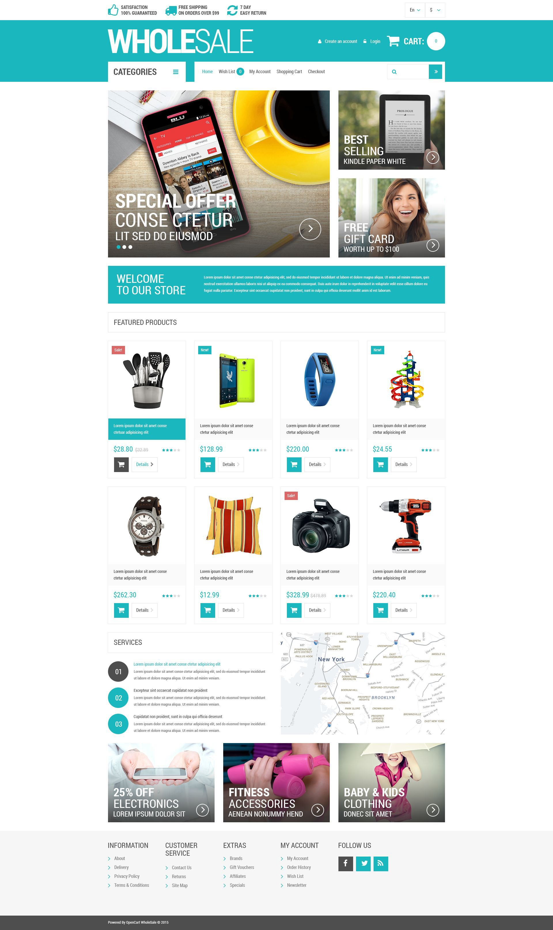 Wholesale Store Responsive OpenCart Template #53684
