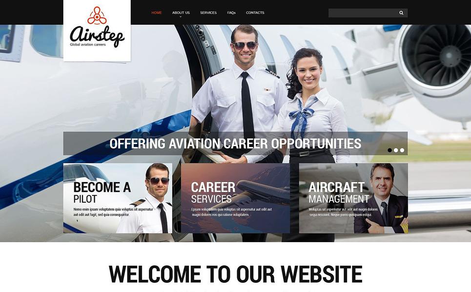 Reszponzív Légitársaságok Weboldal sablon New Screenshots BIG