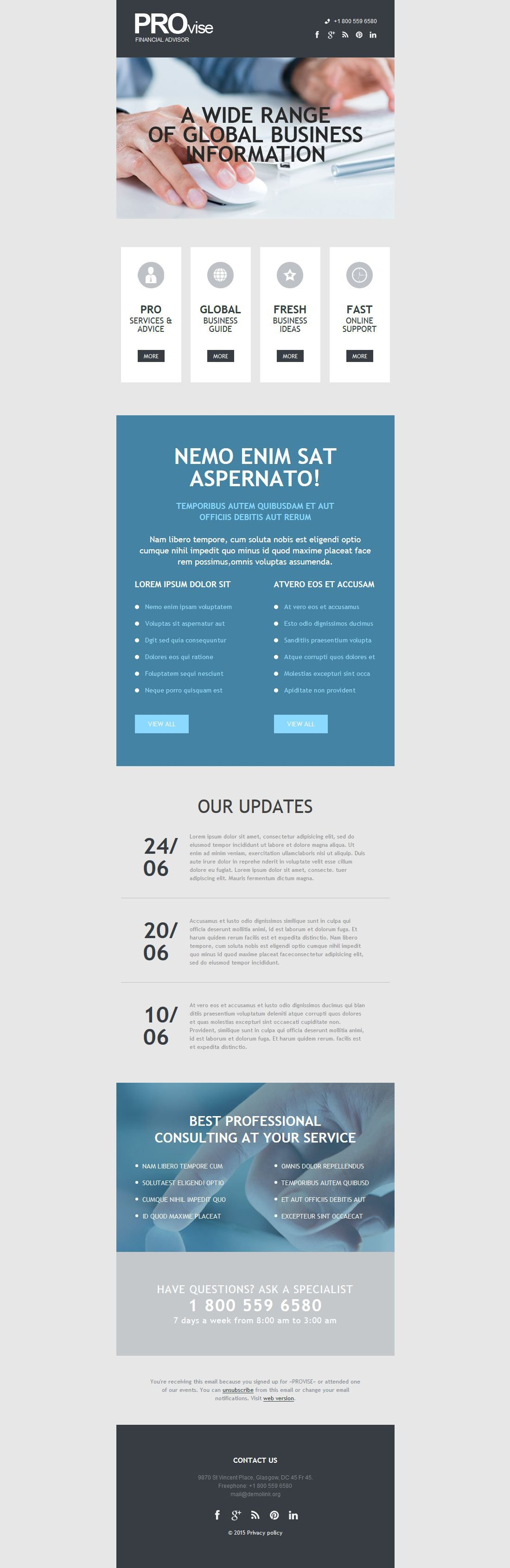 The Provise Business Newsletter Template Design 53701, one of the best Newsletter templates of its kind (business, most popular), also known as provise business Newsletter template, success company Newsletter template, enterprise solution Newsletter template, business Newsletter template, industry Newsletter template, technical Newsletter template, clients Newsletter template, customer support Newsletter template, automate Newsletter template, flow Newsletter template, services Newsletter template, plug-in Newsletter template, flex Newsletter template, profile Newsletter template, principles Newsletter template, web products Newsletter template, technology system and related with provise business, success company, enterprise solution, business, industry, technical, clients, customer support, automate, flow, services, plug-in, flex, profile, principles, web products, technology system, etc.