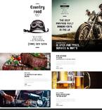 Cafe & Restaurant Website  Template 53704