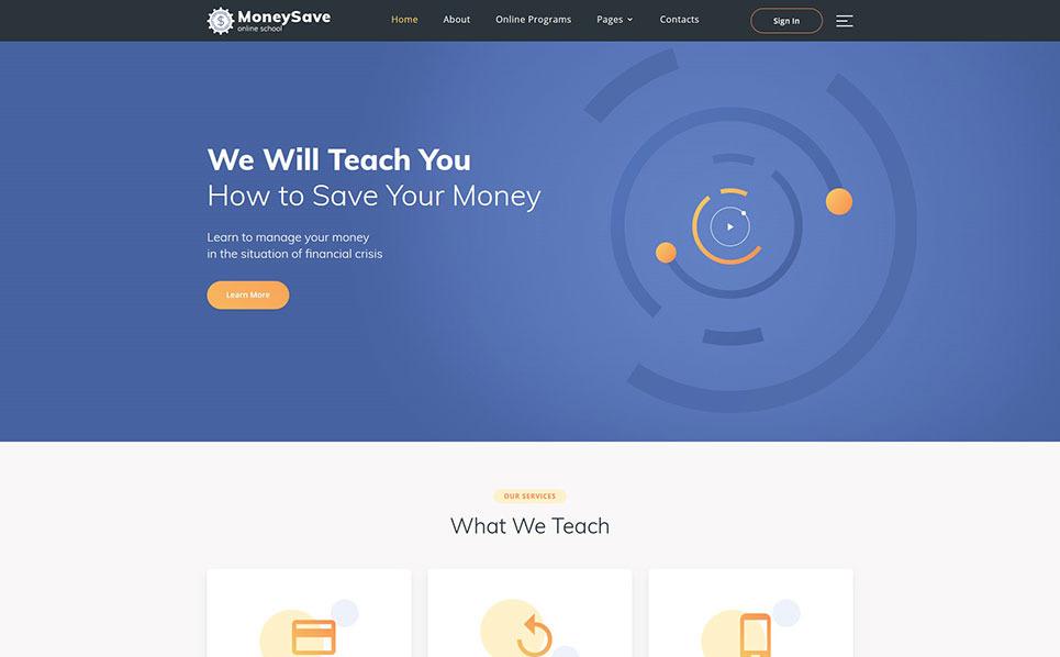 Responsive Website template over Bank New Screenshots BIG