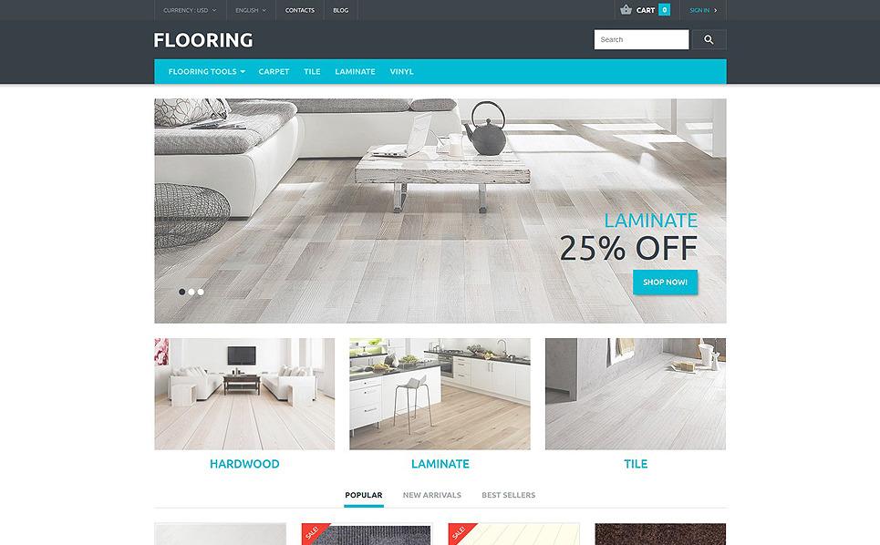 Responsive PrestaShop Thema over Vloerbedekking  New Screenshots BIG