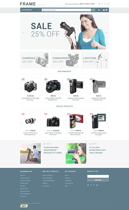 Magento Theme/Template 53713 Main Page Screenshot