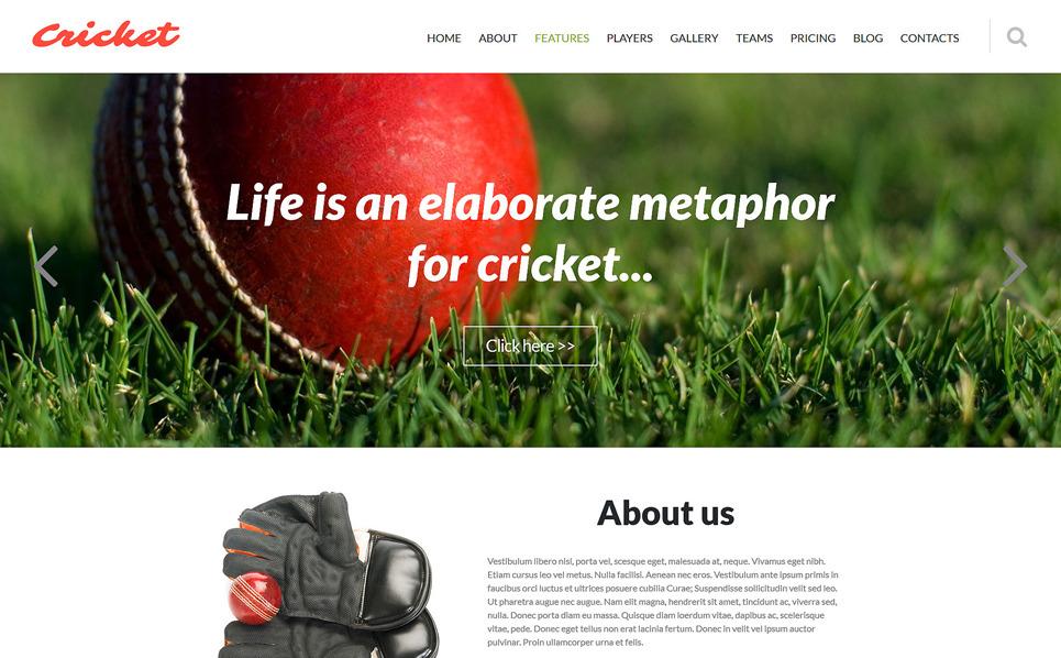 Responzivní Joomla šablona na téma Kriket New Screenshots BIG
