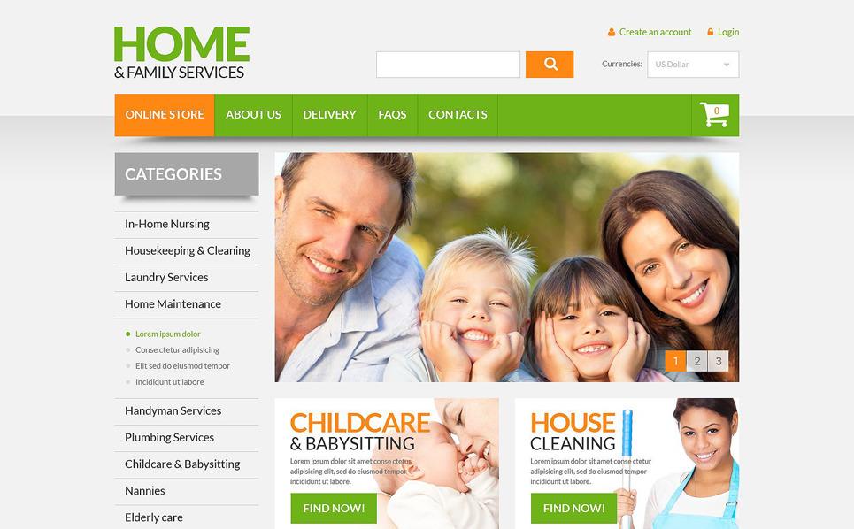"""VirtueMart Vorlage namens """"Haushalt- und Familiendienstleistungen"""" New Screenshots BIG"""