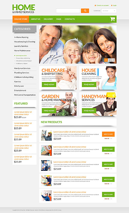 ADOBE Photoshop Template 53719 Home Page Screenshot