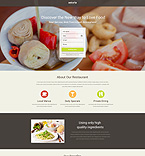 Cafe & Restaurant Landing Page  Template 53722