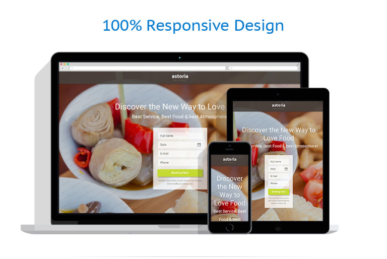 Free Restaurant Landing Page Template - Sample landing page template