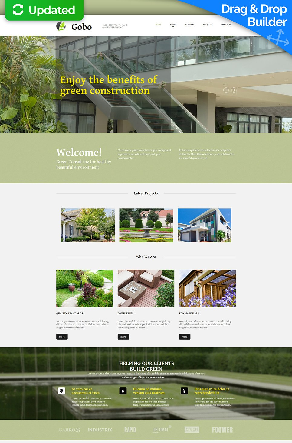 Green Home Construction Theme - image