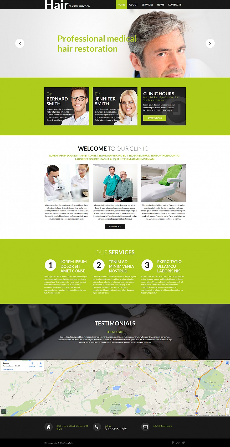 Hair Regrowth Website Template - image