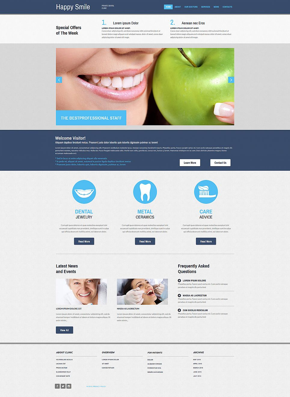 Dental Web Page Design - image