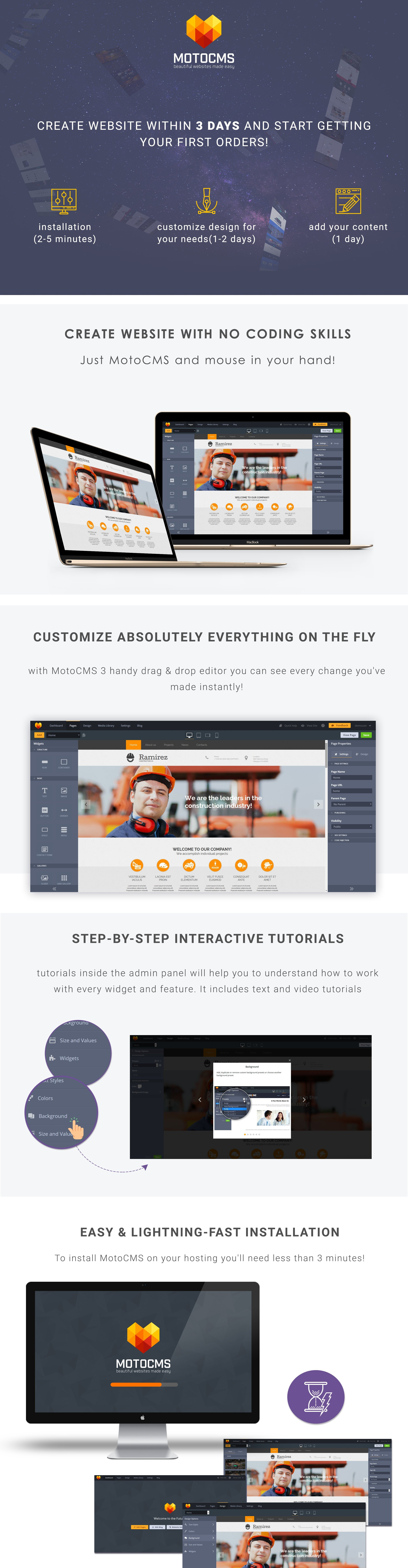 Architecture Responsive Moto CMS 3 Template