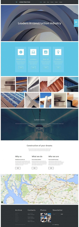 Flat Architecture Website Design - image