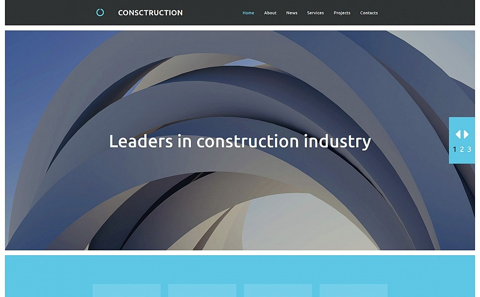 Reszponzív Építőipari vállalatok Moto CMS 3 sablon New Screenshots BIG