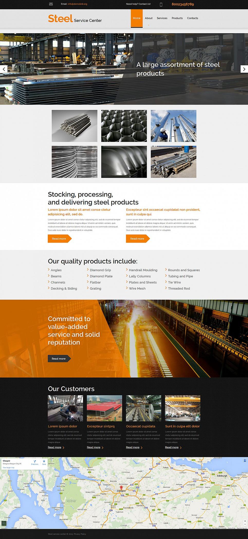 Metal Sales Website Template - image