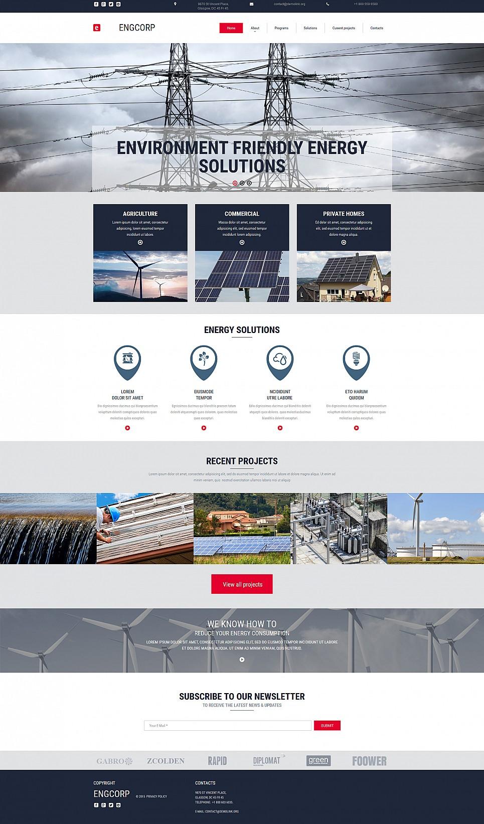 Alternative Power Website Design - image