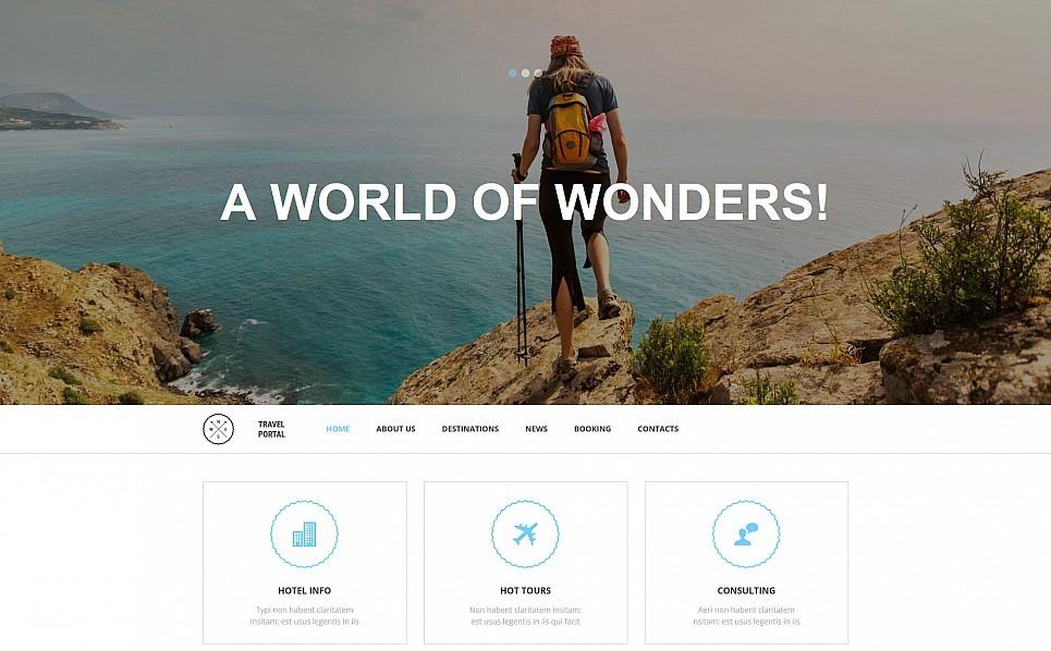 Reszponzív Utazás Moto CMS 3 sablon New Screenshots BIG