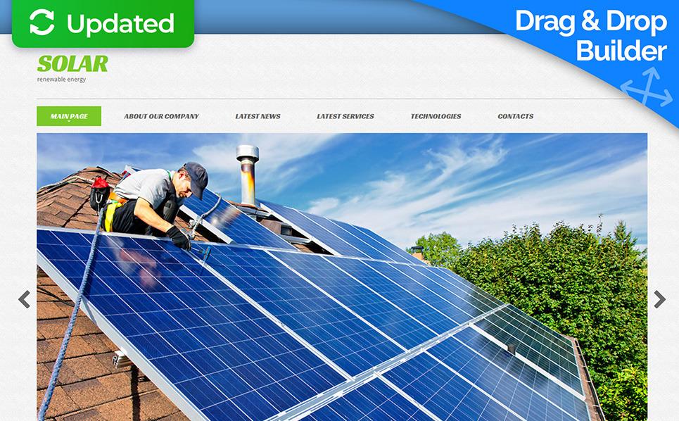 Responsive Moto CMS 3 Template over Zonne-energie New Screenshots BIG