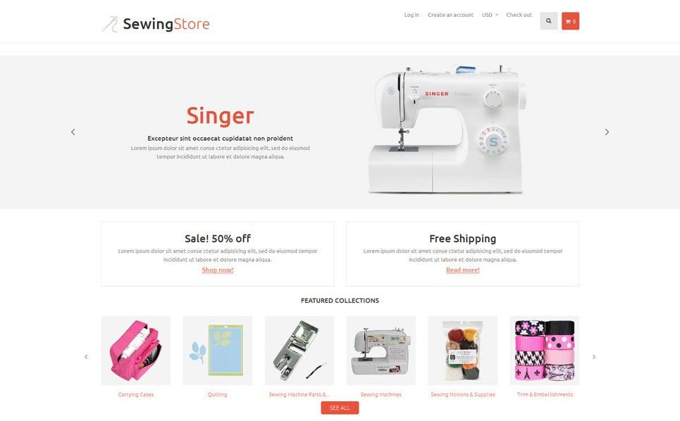Modello Shopify Responsive #53744 per Un Sito di Hobby New Screenshots BIG