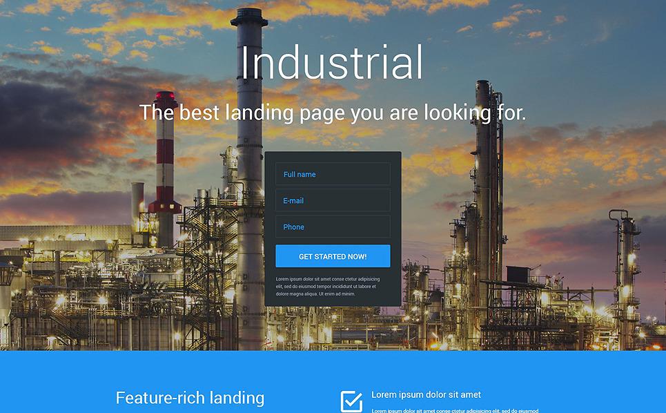 Responsive Endüstriyel  Açılış Sayfası Şablonu New Screenshots BIG