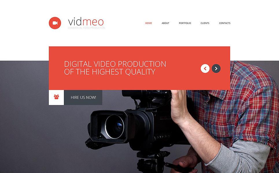 Reszponzív Videóstúdiók Weboldal sablon New Screenshots BIG