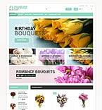 Flowers ZenCart  Template 53757