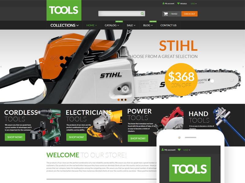 Responsive Shopify Thema over Instrumenten & Apparatuur  New Screenshots BIG