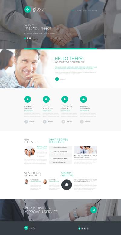Företag & tjänster Responsivt Hemsidemall