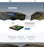 Food & Drink Website  Template 53779
