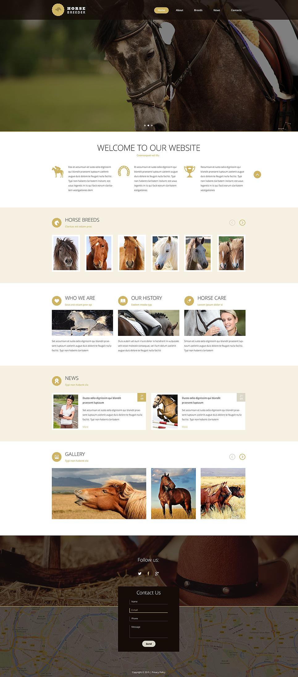Horse Breeder template illustration image