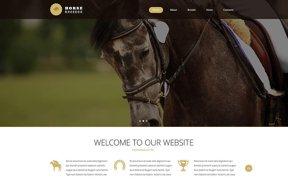 Reszponzív Lovak Weboldal sablon New Screenshots BIG