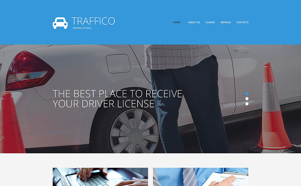 Адаптивний Шаблон сайту на тему школа водіїв New Screenshots BIG