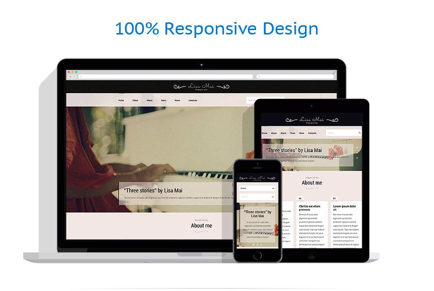 Modèles HTML5 Personal pages #53798
