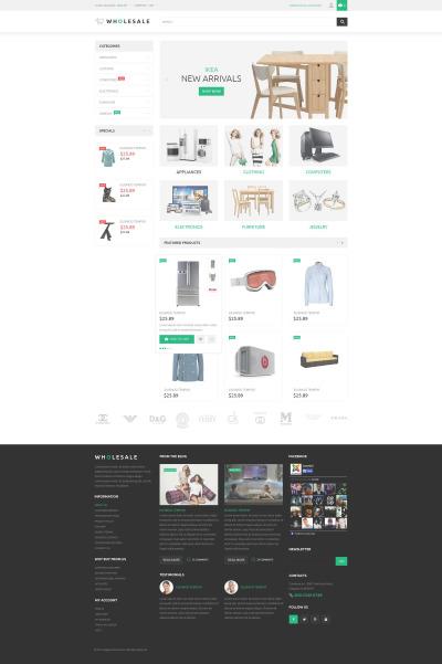 Wholesale Store Responsive Magento шаблон